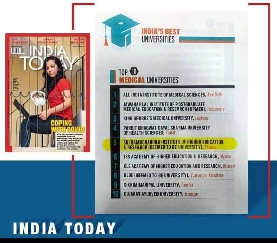 INDIA TODAY RANKING - 2020