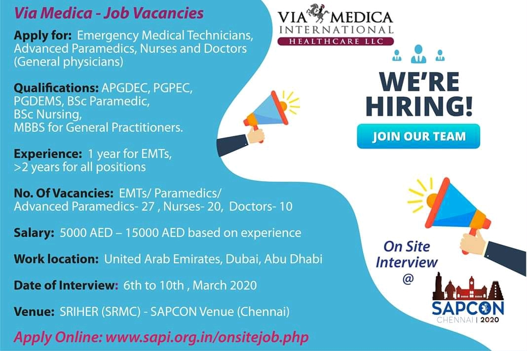 Via Medica Job vacancies