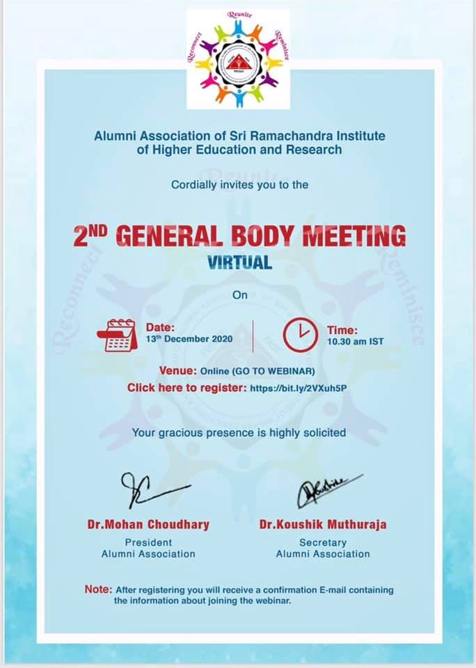 2nd General Body Meeting