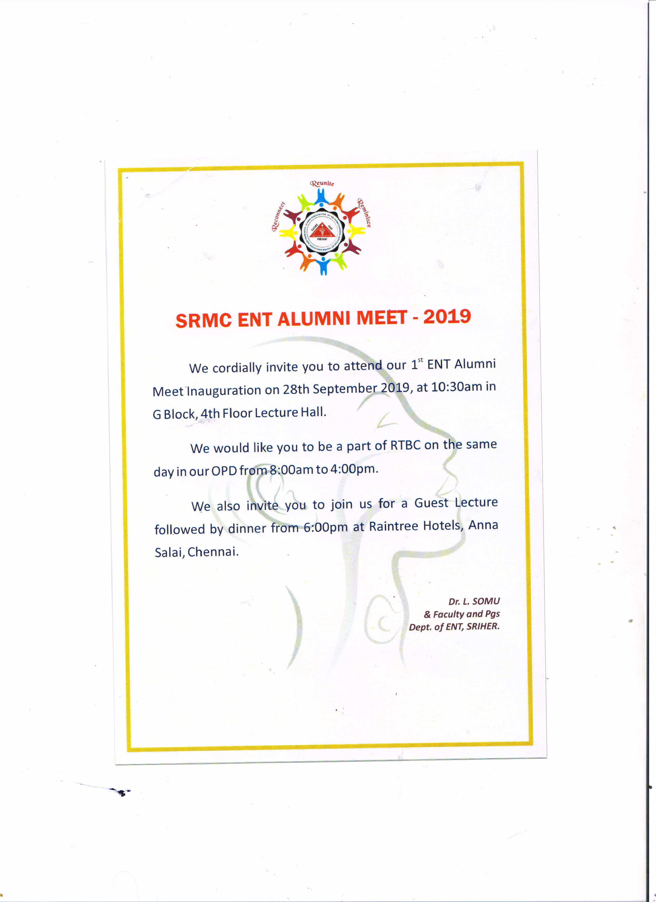 Alumni Association of Sri Ramachandra INstitute of Higher Education and Research - ENT Alumni Meet - 2019